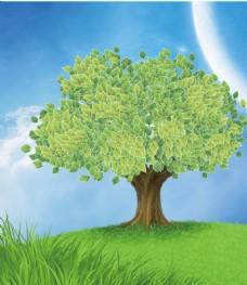 符号工具制作大树