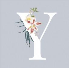 字母与花朵