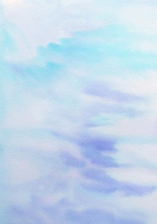 淡蓝色调水彩肌理