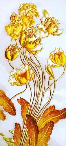 浮雕花朵玄关