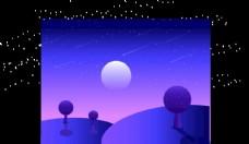 星空下的月亮