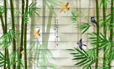 竹子彩雕背景墙