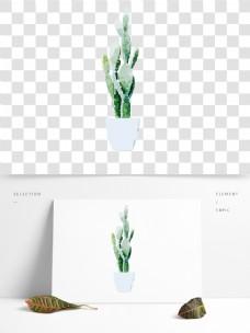 盆栽仙人掌素材卡通透明素材