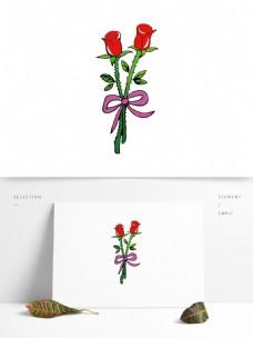 卡通矢量手绘花朵