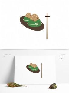 端午节简单的粽子元素