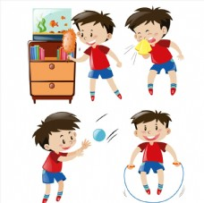 4种创意男孩日常生活行为