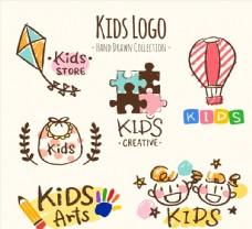 彩绘儿童元素标志