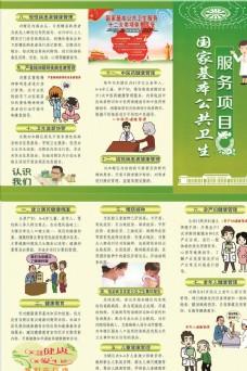 国家基本公共卫生服务项目三折页