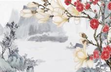 江南风背景墙
