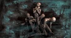 恐怖僵尸图片素材人物图片素材