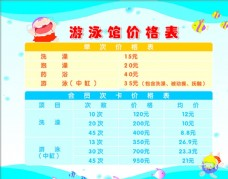 儿童游泳馆价格表