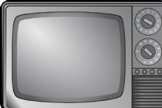 电视机  黑白电视机