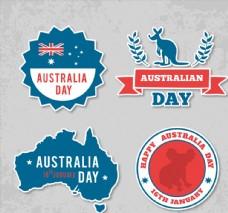 创意澳大利亚日标签