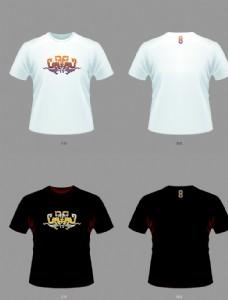 中國風T恤雙龍纏枝盤花紋
