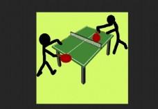 打乒乓球动图