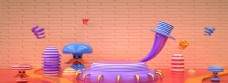 欢乐3d卡通儿童背景