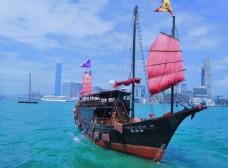 香港 维多利亚港 船