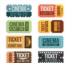 8款彩色电影票