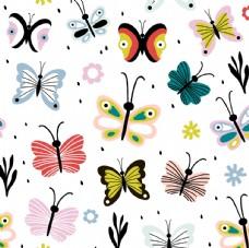 花花蝴蝶花卉