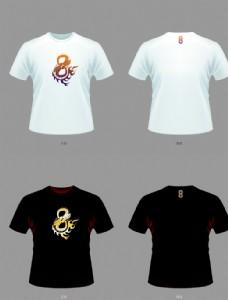中國風T恤雙龍騰火