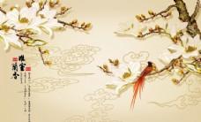 馨室兰香背景墙