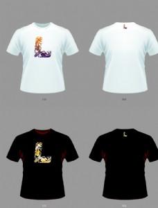 中國風T恤龍紋字母L