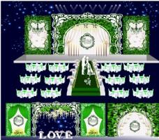 绿色森林系婚礼主题