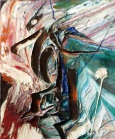 抽象艺术油画壁画