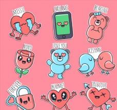 9款彩色爱的语言贴纸