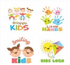 4款可爱儿童产品标志