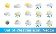 天气图标设计矢量素材