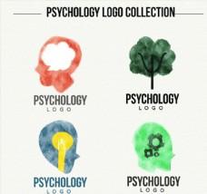 4款水彩绘心理学标志