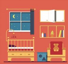 夜晚的婴儿房设计