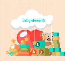 8个扁平化婴儿玩具