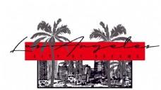 线条椰子树