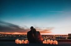 情侣 黄昏 浪漫 爱情 情人节