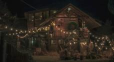 夜景小木屋