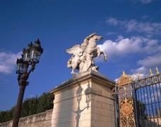 巴黎城堡建筑城市风光