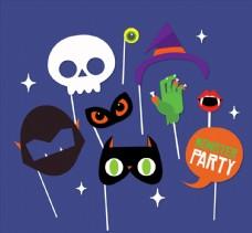 扁平化怪物派对面具