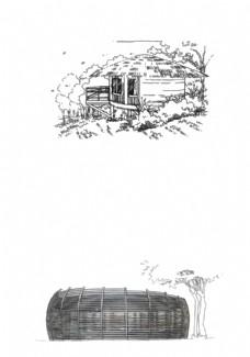 景观建筑手绘