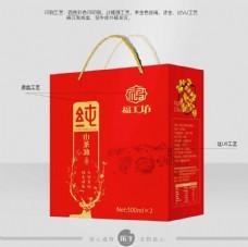 食用山茶油礼盒包装设计素材