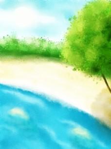 手绘风景插画