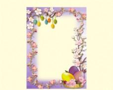 彩蛋花纹边框