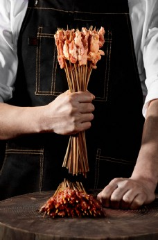 牛肉串 烤牛肉 烧烤