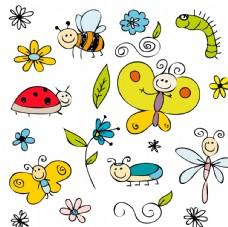 童装印花可爱卡通小昆虫