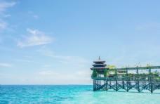 沙巴仙本那马布岛度假水屋酒店.