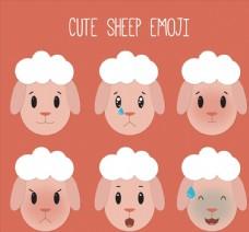 6款可爱绵羊头像表情
