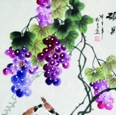 油画 葡萄