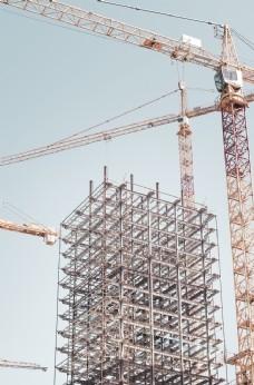 建筑 建筑工地 脚手架