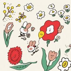 花卉可爱简笔画